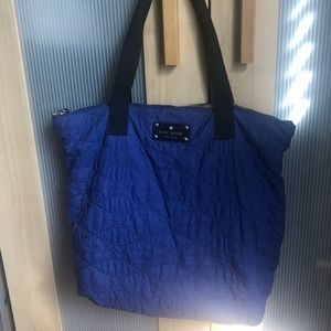 Kate Spade cobalt blue nylon tote bag